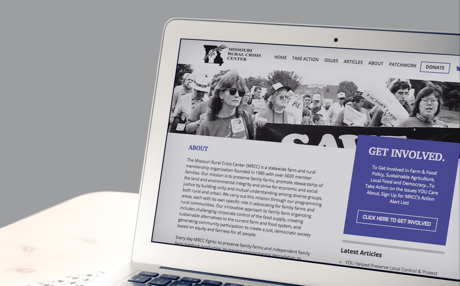 non profit website design example for membership association