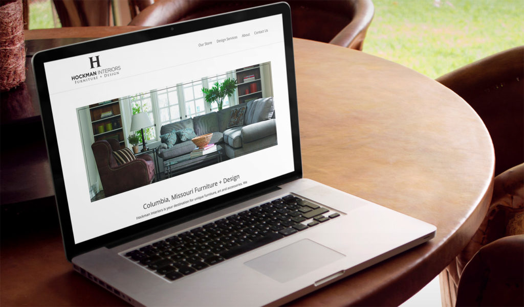 furniture store website design example