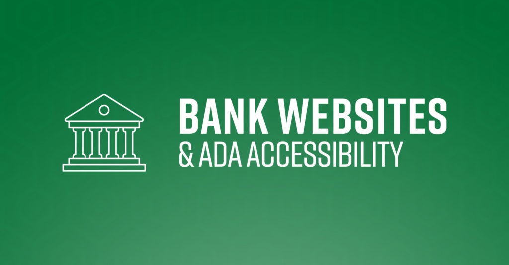 bank web design and ada accessibility, the basics