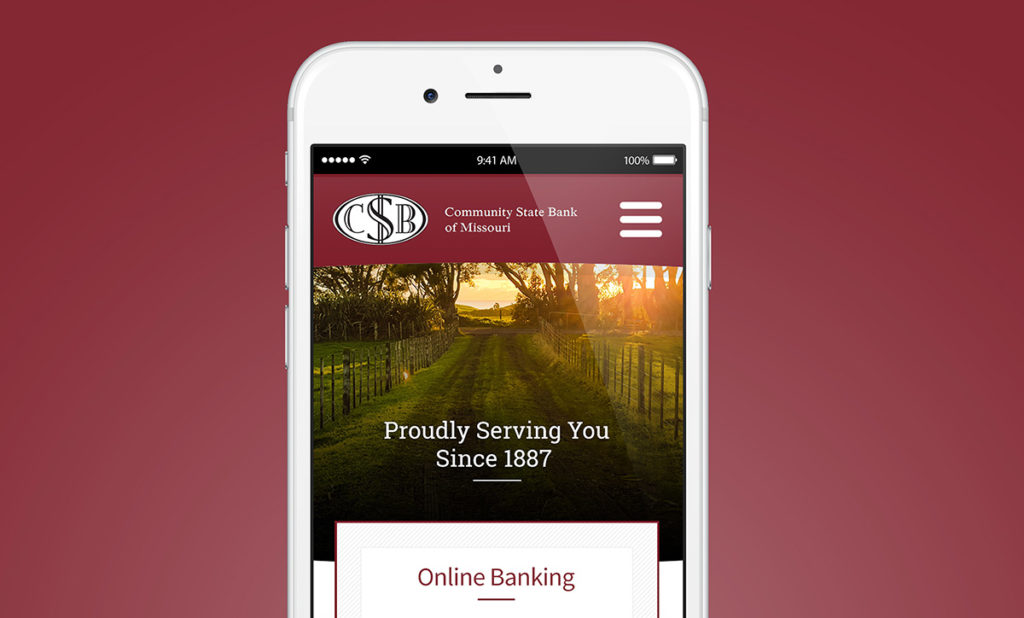 bank website design in st. louis