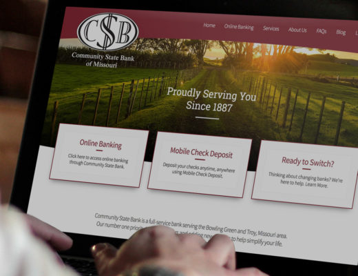 bank website design example from st. louis web design agency