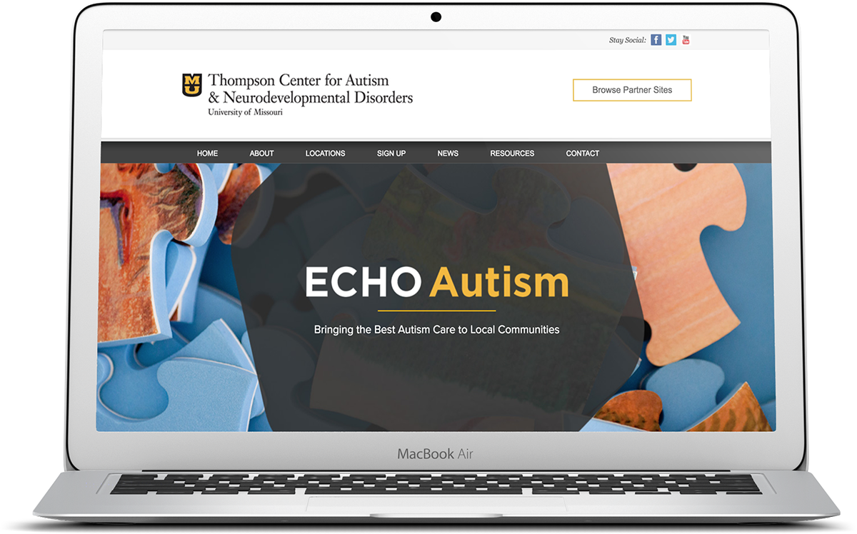 ECHO Autism higher education and medical website design