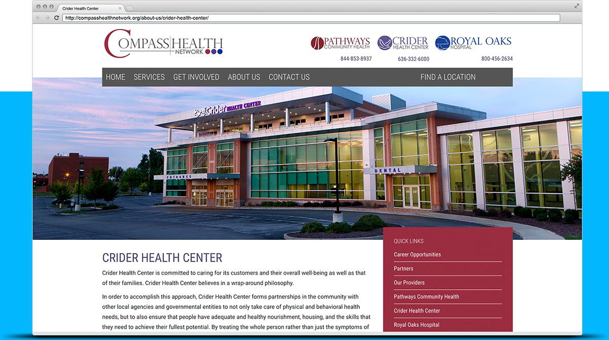 healthcare website design St. Louis