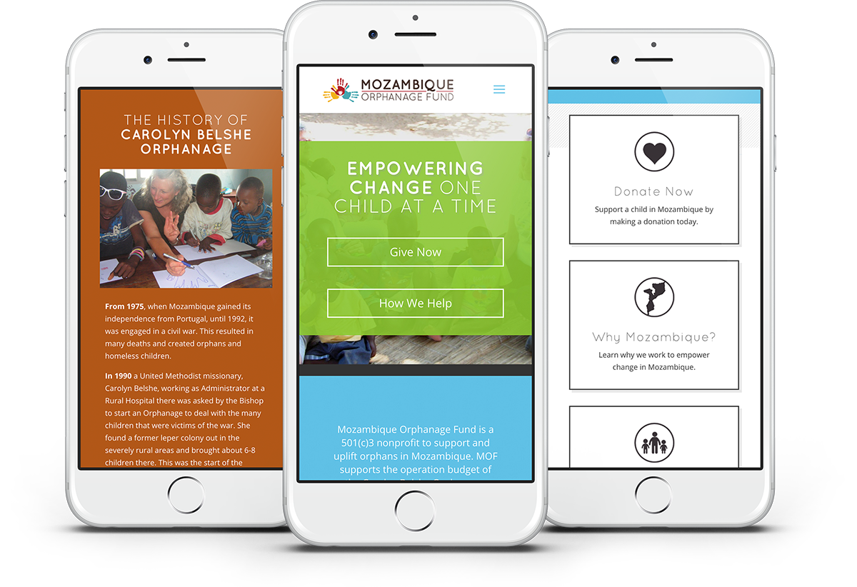 non-profit website design for foundation