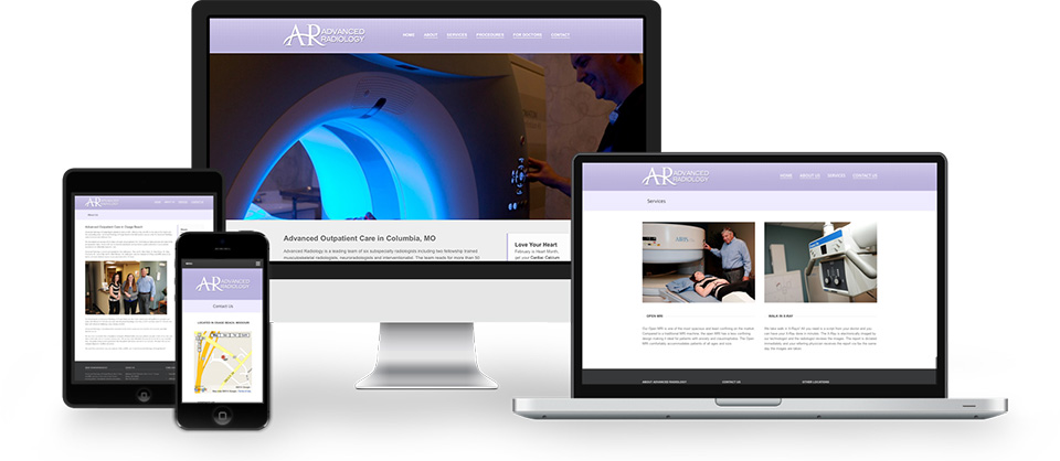 Advanced Radiology website design