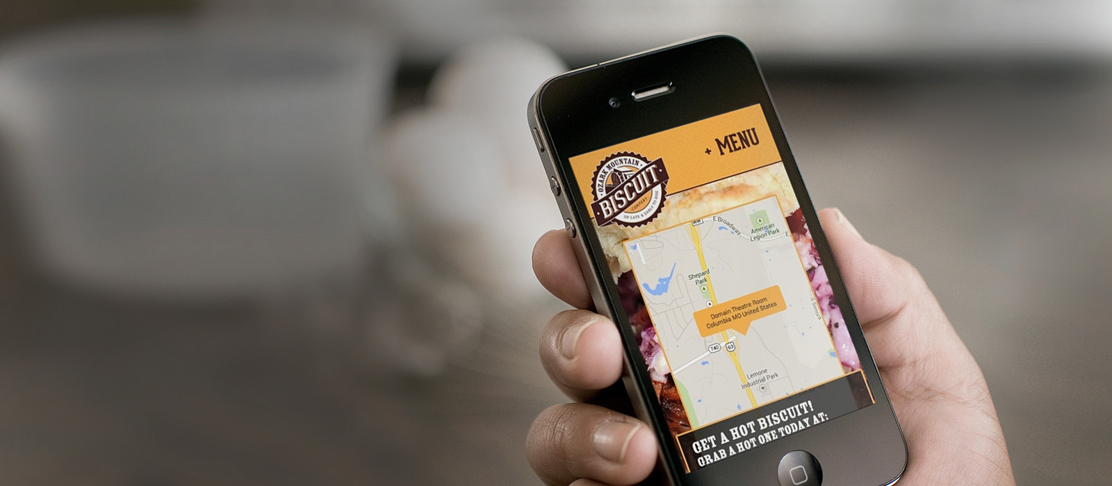 responsive web design for Ozark Mountain Biscuit Company