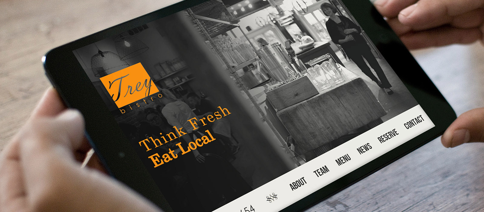 responsive web design for Trey Bistro