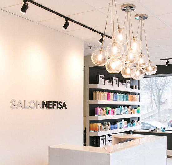 logo design example on Salon Nefisa