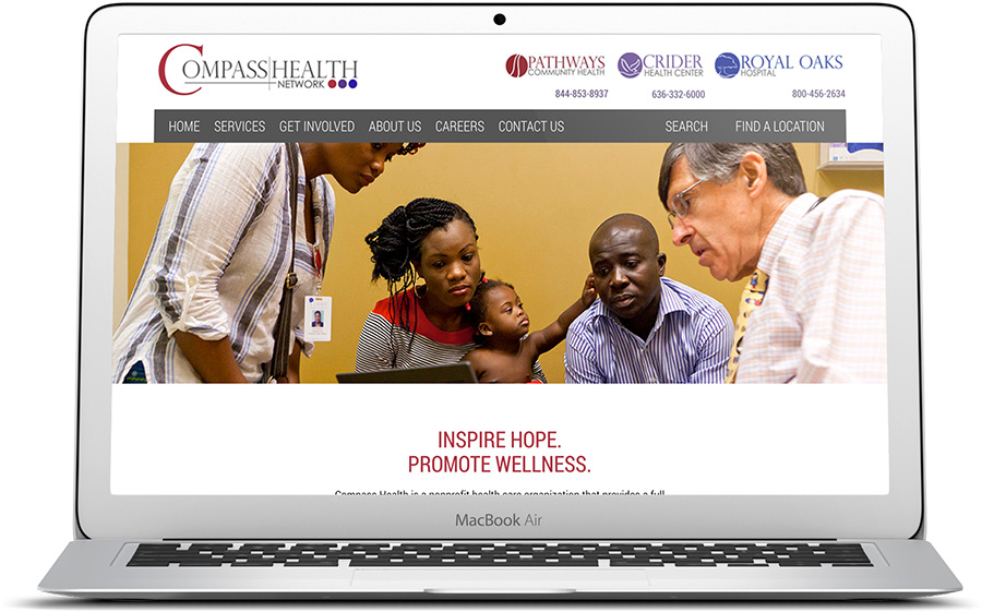 website design for outpatient treatment facilities