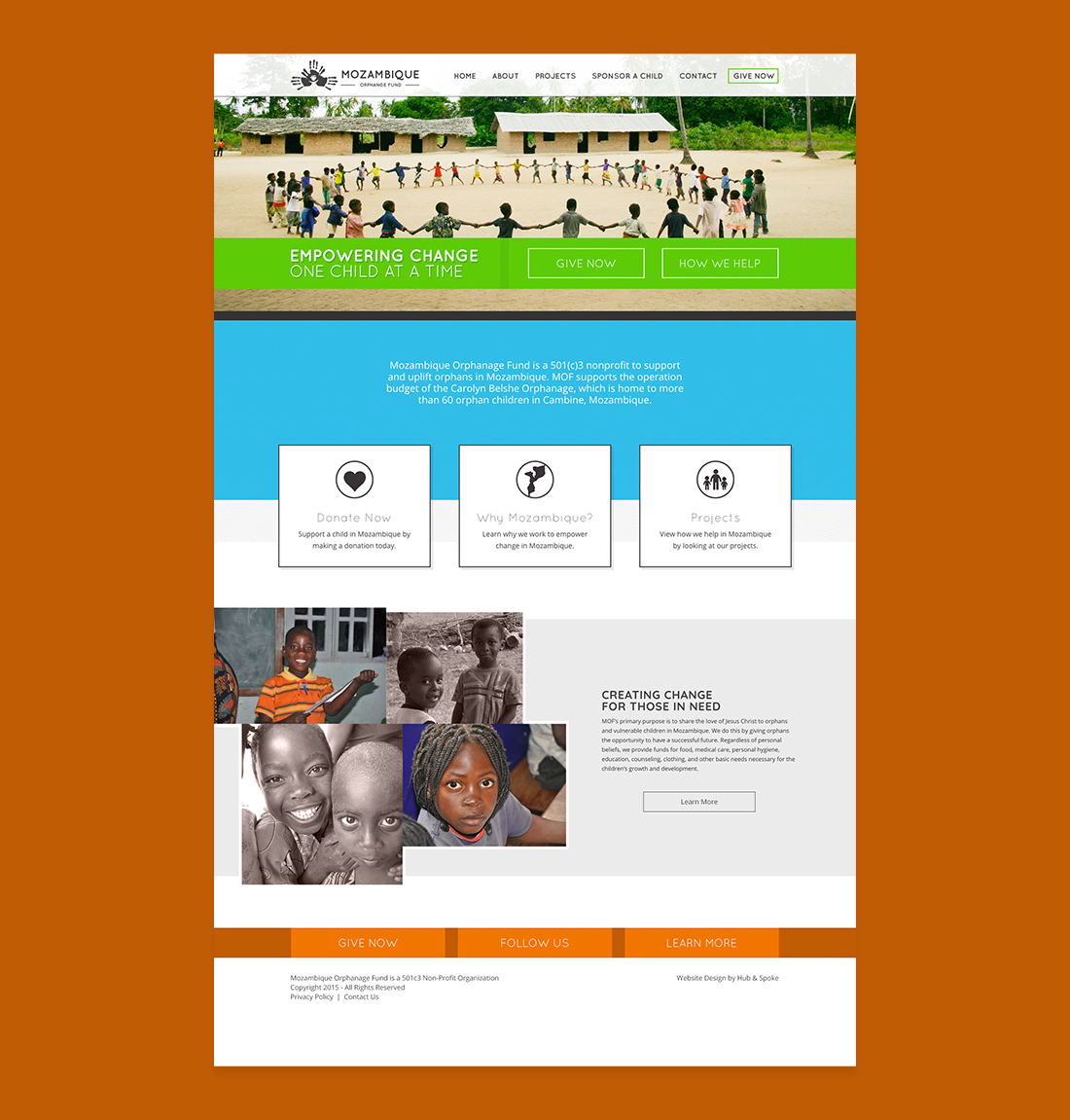 website design for african non profit organization