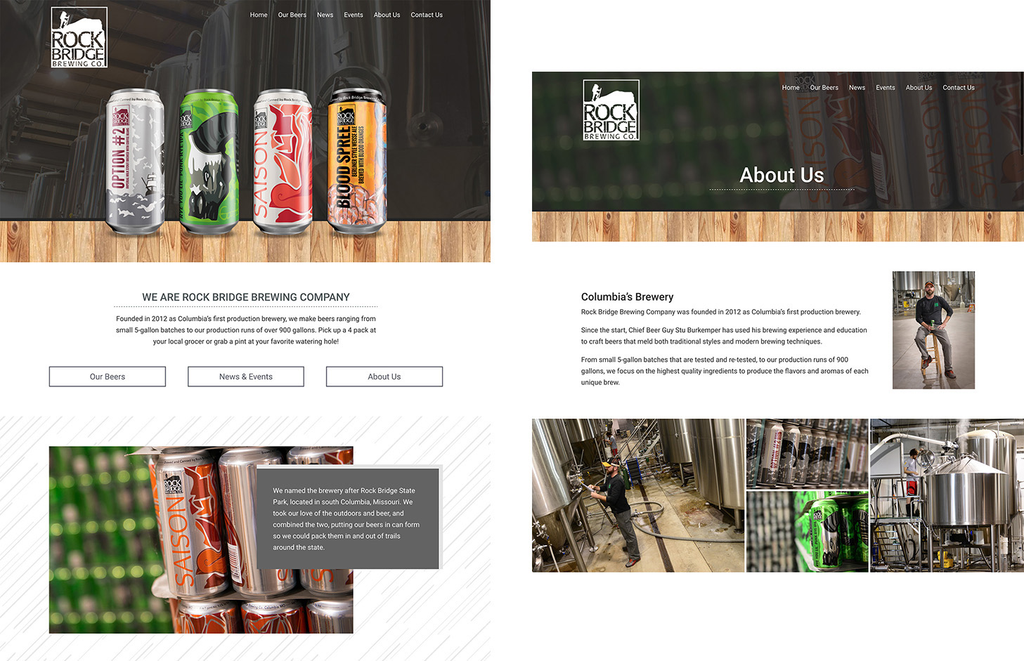 beer and alcohol website design